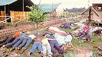 Dead cultists at Jonestown
