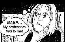 Professors lied